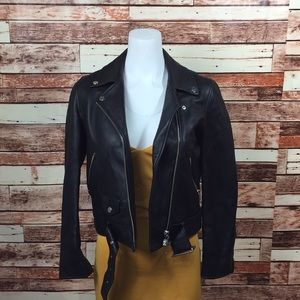 Topshop Black Leather Jacket 25B01M